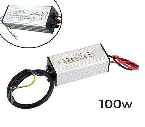 Alimentatore LED driver ricambio per fari a LED trasformatore 100Watt. MWS
