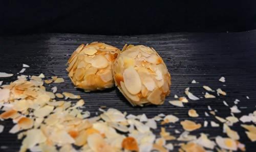 Amaretti Morbidi Mandelbällchen - frisch & handwerklich hergestellt - außen knackig und innen weich - Italienisches Mandelgebäck - Marzipangebäck - 500g