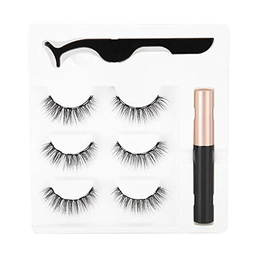 Conjunto de pinças magnéticas de cílios postiços para maquiagem líquida com cílios postiços fortes magnéticos para os olhos