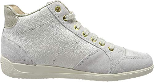 Geox D Myria C, Sneaker a Collo Alto Donna, Beige (Champagne/off White Cb51q), 37 EU