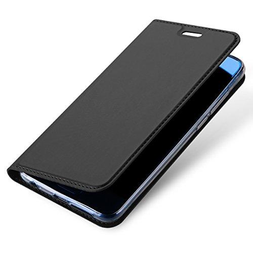 Huawei Honor 9 Custodia in Pelle, Moonmini Lusso Ultra Sottile Misura Custodia Wallet a Portafoglio a Libro in PU Pelle con Stand Funzione e Carta Fessura Chiusura Magnetica Flip Cover Supporto per H