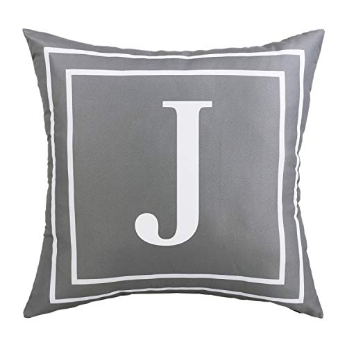 Yastouay Cushion Cover 45 x 45 cm Polyester with Zip Cushion Cover Couch Decorative Cushion Covers Throw Cushion Cover Pattern Room Decoration Children Grey J