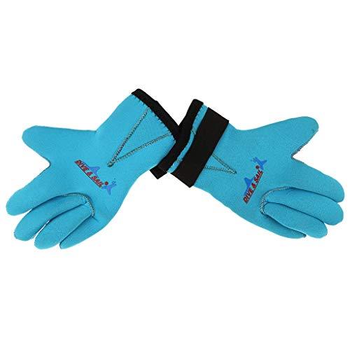 Inzopo 3 mm Neopren-Handschuhe, rutschfest, für Kinder, Jungen, Mädchen, Surfen, SUP, Kajak, Tauchen, Schnorcheln, Schwimmen, Wassersport – 2 Farben und alle Größen – Blau, M