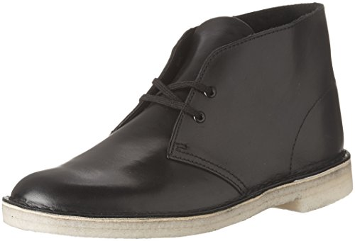 Clarks mens Desert Chukka Boot, Black Leather, 11.5 US