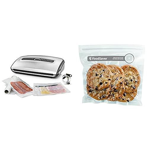 FoodSaver FFS016X Envasadoras al vacío con cutter incorporado + FVB015X Bolsas para...