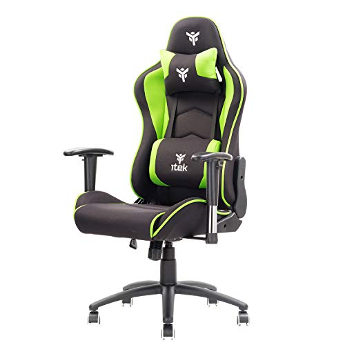 Itek Playcom FM20 - Chair para Videojuegos, acrílico, Verde, Normal