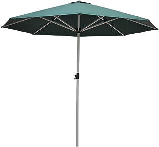 ZAQI Parasol Jardin Sombrillas Terraza Playa Sombrillas para Jardín Exterior, Paraguas de Mesa Resistente a la Decoloración Impermeable de 250 cm con 8 Costillas de Aluminio (Color : Green)
