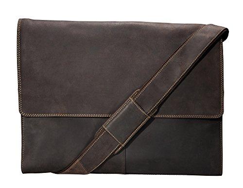 Visconti Half Flap Xl Messenger Bag, Brown, X-Large