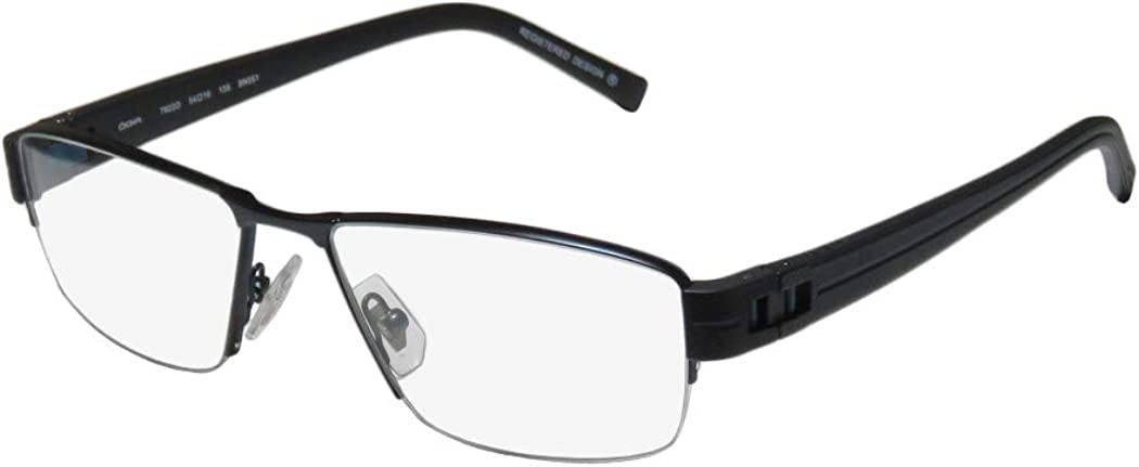 Oga 7922o For Men Designer Half-rim Flexible Hinges Original Case Modern Hip Eyeglasses/Spectacles