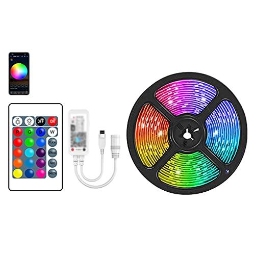 JEZZ Tira de Luces LED de 5 M-30 M, Bluetooth WiFi, Cinta de luz LED, Cinta de diodo, Bluetooth, WiFi, Controlador de aplicación de teléfono, Potencia (Color : WiFi Adapter, Size : 20m)