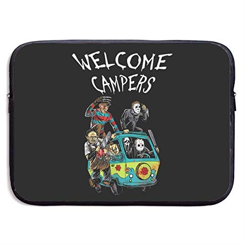Hdadwy Welcome Campers Laptop Sleeve Bag Notebook Computer, Water Repellent Polyester Protective Case Cover Theme Design Laptop 13 inch