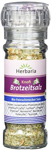 Herbaria Knofi (Knoblauch) Brotzeitsalz Mühle BIO, 2er Pack (2 x 80 g)