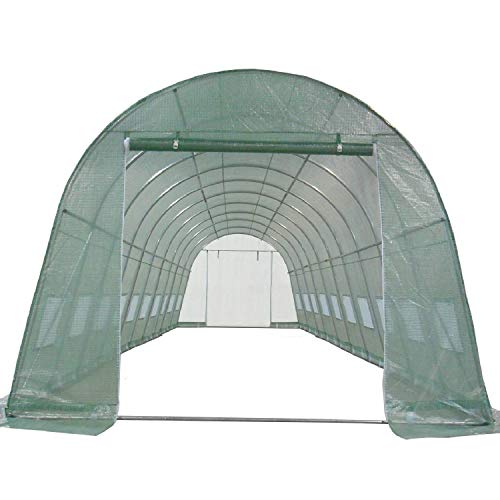 DELTA Canopies Greenhouse 33'x13'x7.5' - Large Heavy Duty Green House Walk in Hothouse 185 Pounds