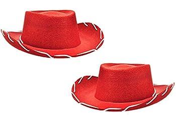 Children s Red Cowboy Hat Jessie Hat  2 Pack