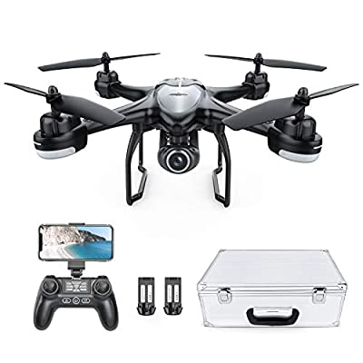 Potensic GPS FPV Drone with 1080P Live Video Camera, RC Quadcopter for Adults and Beginners, Auto Return Home, Altitude Hold, Follow Me, 2 Batteries with Carrying Case