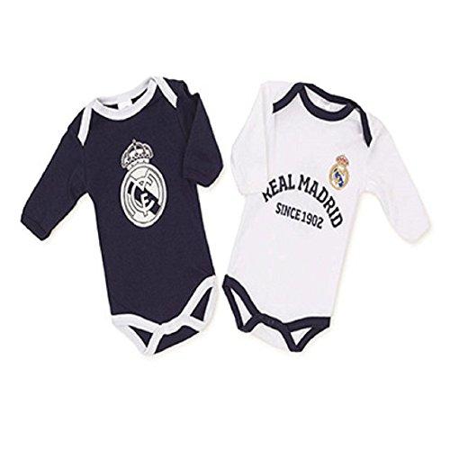 Baby-Bodys, Real Madrid, Weiß, Blau, Größe 24 Monate, 2 Stück