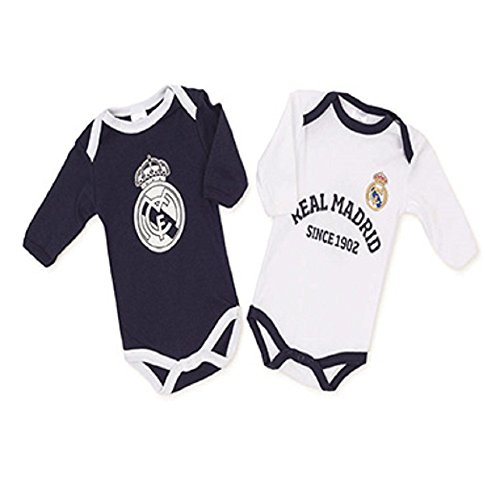 Pack Real Madrid 2 Bodys Blanco y Azul (3 Meses)