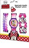 Kids Licensing |Reloj Digital + Pulseras para Niños | Reloj Minnie | Diseño Personajes Disney | Set Reloj y Pulseras Infantil | Reloj de Pulsera Infantil Ajustable | Bisel Reforzado | Licencia Oficial