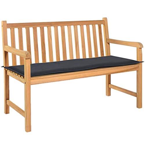 vidaXL Gartenbank Auflage Bankauflage Bankkissen Bankpolster Polsterauflage Sitzkissen Sitzpolster Sitzauflage Garten Anthrazitgrau 120×50×3cm