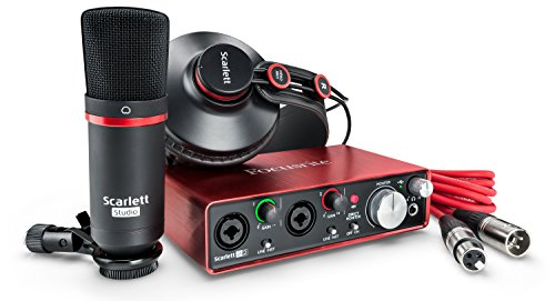 Scarlett 2i2 2nd Gen. Studio Pack - Interfaccia Audio, Microfono a Condensatore, Cuffia Professionale