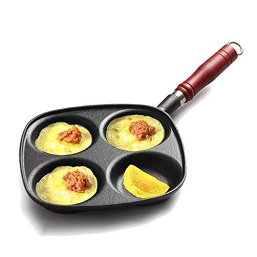 ZXL Olla de Tortilla Sartén pequeña Olla de Huevo con Huevo Sartén Antiadherente Sartén Molde de Hamburguesa de Huevo Sin Recubrimiento Sartenes de 24.5 * 2 cm