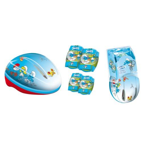 Mondo - 18810 - Vlo et Vhicule pour Enfants - Casque + Protections Schtroump