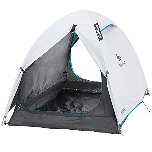 Quechua Arpenaz 2 Campingzelt, Schwarz / Schwarz, 2 Person, White/Black