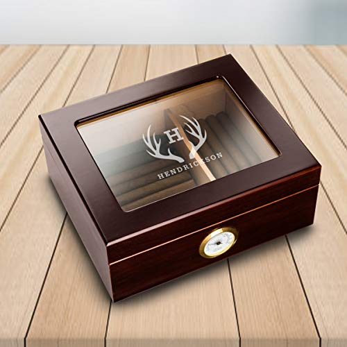 Personalized Humidor Cigar Box