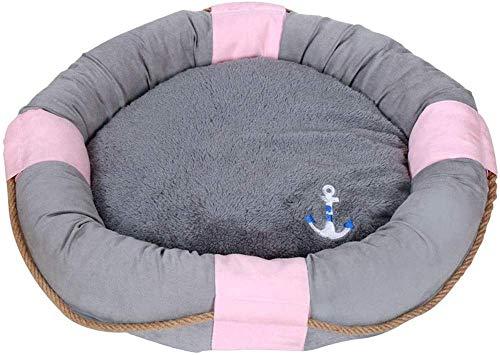 YLCJ Pet Dog Bed Orthopedische chaise longue Woonkamer in stijl Hoekbank Uitneembare nest Leveringen voor kattenstrooisel Mat met ademend katoen voor katten (kleur, Maat: M), M, As-picture