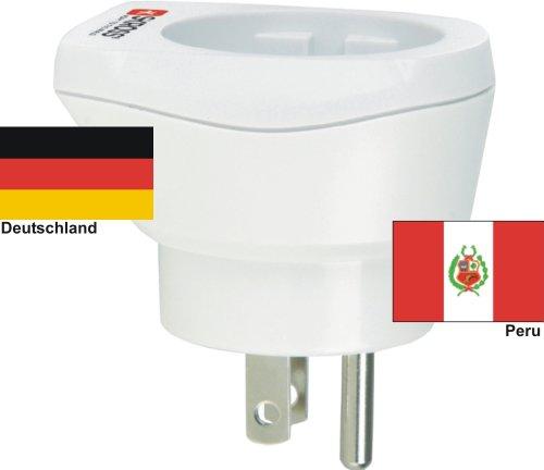hoogwaardige design reisadapter Duitsland naar Peru 220-230V veiligheidsstekker omzettingsstekker reisstekker netstekker - Duitsland - Peru