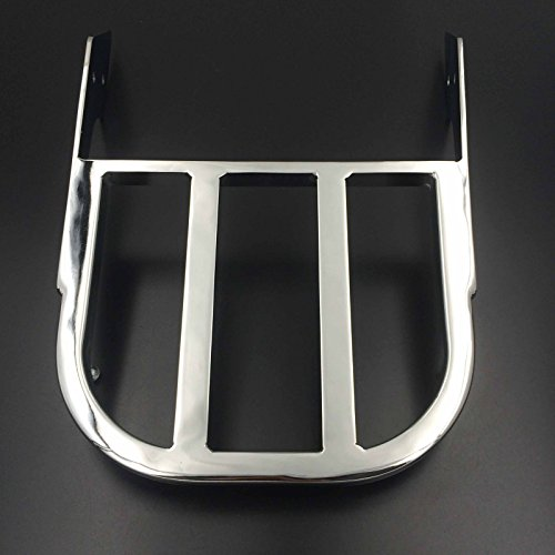 HTTMT MT150- Motorcycle Chrome Sissy Bar Luggage Rack Compatible with 2002-2006 Honda VTX 1300C /2002-2011 Honda VTX 1800C /2005-2011 Honda VTX 1800F