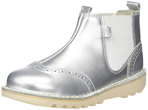 Kickers Mädchen Kick Brogue Chella Kurzschaft Stiefel, Silber (Silver Silver), 35 EU