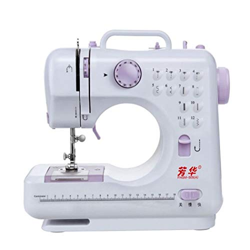 Mini Sewing Machine Electric Portable Sewing Machine Dual Speed Double Thread for DIY Crafting (A,US Plug)