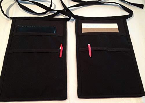 (2) Black Side Apron money Pouch for one price. waitress, waiter, pockets, restaurant,bars,cafes. handmade (Janet