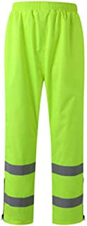 FLYSXP Pantalones Reflectantes Para La Lluvia Tráfico Saneamiento Seguridad Para El Jardín Guardapolvos Impermeables Para Exteriores Pantalones Fluorescentes Amarillos Fluorescentes Chalecos reflectan