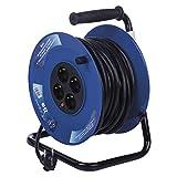 EMOS P09225M Carrete alargador de cable m, con 4 enchufes, toma de 2,5 mm, para interiores, clase de...