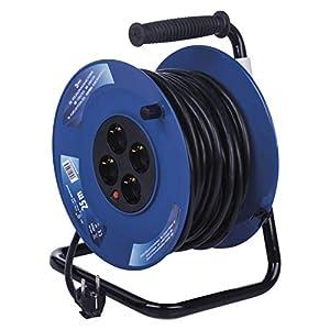 EMOS P09225M Carrete alargador de cable m, con 4 enchufes, toma de 2,5 mm, para interiores, clase de protección IP20, 25 Meter
