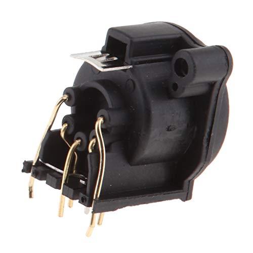 KESOTO Gebogener 5Pins XLR Stecker PCB Panel Panel Socket Connector für Mikrofon