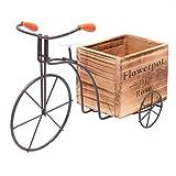 Cabilock Bicicleta Maceta de Flores Macetas de Patio Rústicas Macetas para Plantas Jardín Decoración de Interiores Al Aire Libre(Pequeño estilo aleatorio)