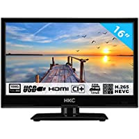 HKC 16M4H TV PEQUEÑA (16 Pulgadas) TV LED (Full HD, sintonizador Triple, Ci +, Mediaplayer USB 2.0, Cargador de Coche de 12V) [Clase de energía A +]