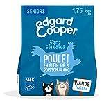 Edgard & Cooper Croquettes Chat Senior sans Cereales Nourriture Naturelle 1.75kg Poulet et Poisson Blanc MSC Frais, Alimentation Saine savoureuse et équilibrée, Protéines de qualité supérieure
