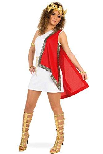 KarnevalsTeufel Damenkostüm Römerin Kleid mit Lorbeerkranz Tunika Antike Fasching Karneval International Länder Gr 34 - 40 (40)