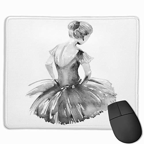 Muiskussen, bureaumuis, muiskussens, muismat ballet aquarel ballerina danser damesschoenen Silhouette schets