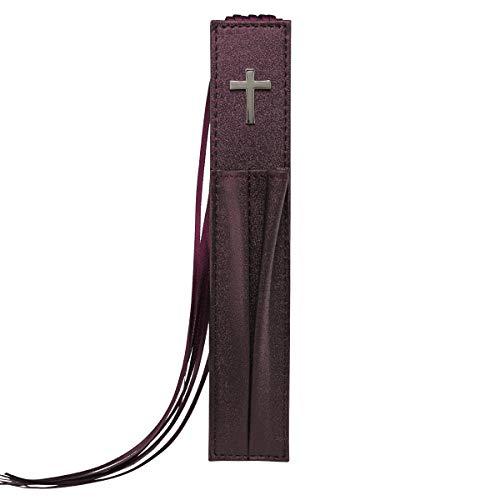 Pagemarker Lux-Leather Bible - Cross Purple W/ Two Pen Holders