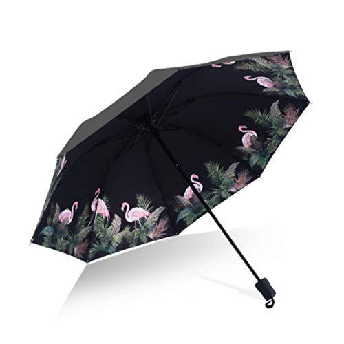 UKKD Paraguas Hombres Paraguas Paraguas para Mujer Flor 3D De Viento Grande De La Impresión Anti-Sol Al Aire Libre 3 Paraguas Plegable Paraguas,como Bild