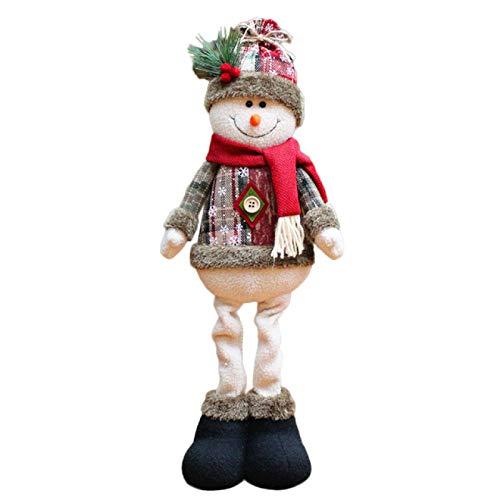 WYMGFD Adornos para el hogar decoraciones de Navidad Santa Claus muñeca muñeco de nieve alce adornos regalos juguetes