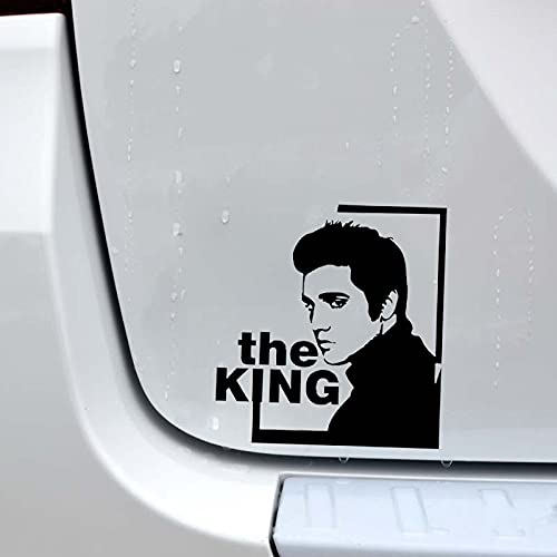 Legend Rock Music King Star Singer Elvis Presley Retrato Vinilo Etiqueta de la pared Etiqueta engomada del coche Calcomanía Niño Dormitorio Sala de estar Club Studio Decoración para el hogar