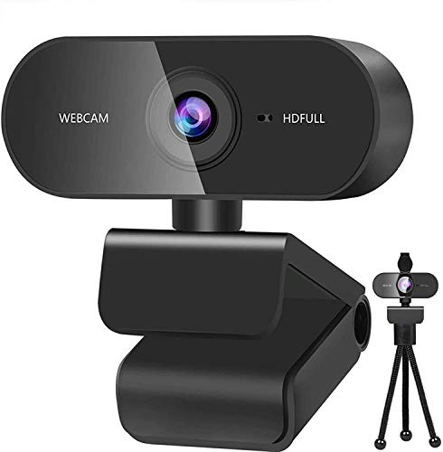 P&U Webcam with Microphone,Webcam for pc HD 1080P Webcam with microphone for PC,Laptop,MAC,Plug and Play USB webcam for Youtube,Skype Video Calling, Studying, Conference, Gaming with Rotatable Clip