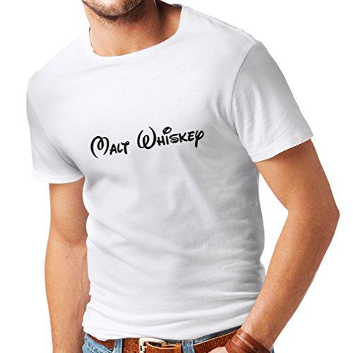 lepni.me Camisetas Hombre Whisky de Malta: Citas Divertidas para Beber, Refranes geniales de Alcohol (Medium Blanco Negro)