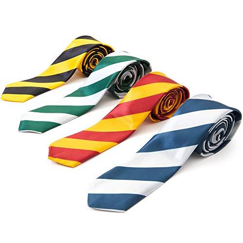 Juvale schielassistent gestreept pak stropdas - (set van 4) - 4 kleuren
